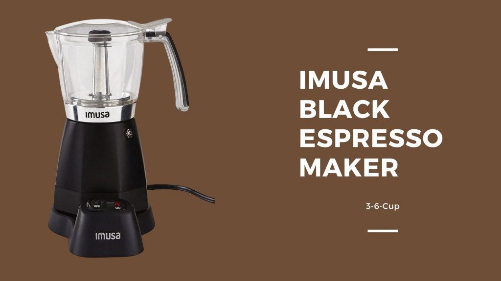Imusa Black Espresso Maker
